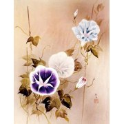 Tableau -Enredadera con flores moradas y azules-