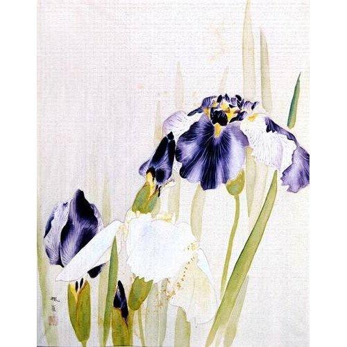 Tableau -Lirios violáceos-