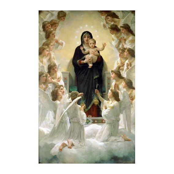 imagens religiosas - Quadro -La Virgen y angeles-
