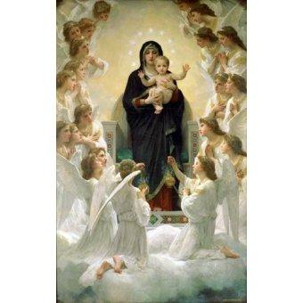 Tableaux religieuses - Tableau -La Virgen y angeles- - Bouguereau, William