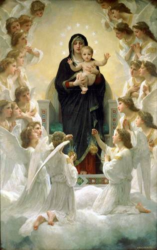 tableaux-religieuses - Tableau -La Virgen y angeles- - Bouguereau, William