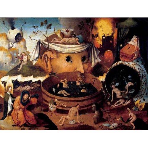 pinturas do retrato - Quadro -La vision de Tondal-