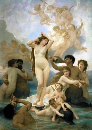 tableaux-de-personnages - Tableau -El nacimiento de Venus- - Bouguereau, William