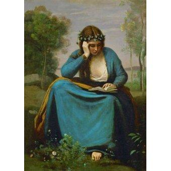 Tableaux de Personnages - Tableau -La Muse de Virgil- - Corot, J. B. Camille