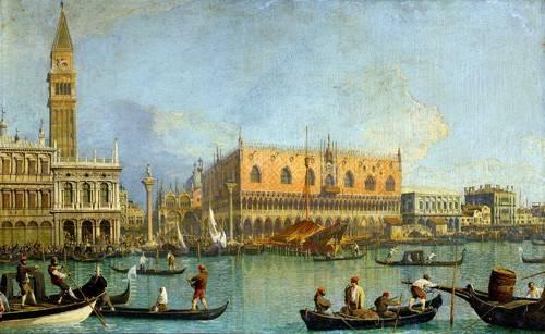 tableaux-de-paysages - Tableau -La Mole vista desde San Marcos- - Canaletto, Giovanni A. Canal