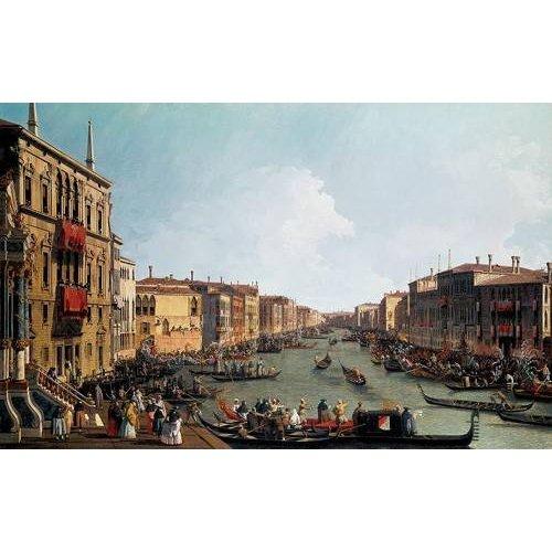 Tableau -Les régates sur le grand canal-