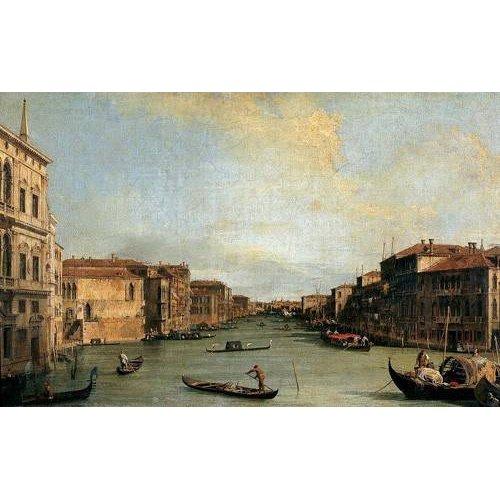 Tableau -Canal Grande en Rialto-