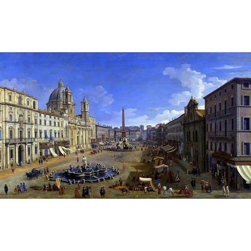 Tableau -Roma, vista desde la Piazza Navona-