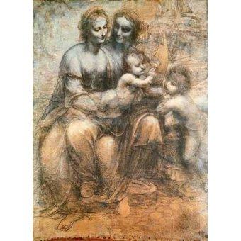 Tableaux religieuses - Tableau -La Virgen, el Niño y Santa Ana- - Vinci, Leonardo da