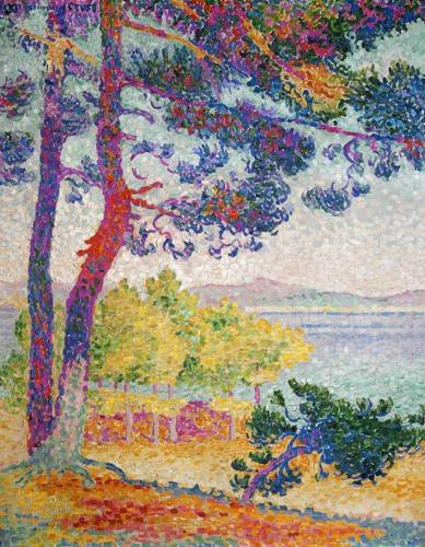 tableaux-de-paysages - Tableau -Afternoon at Pardigon, 1907- - Cross, Henri Edmond