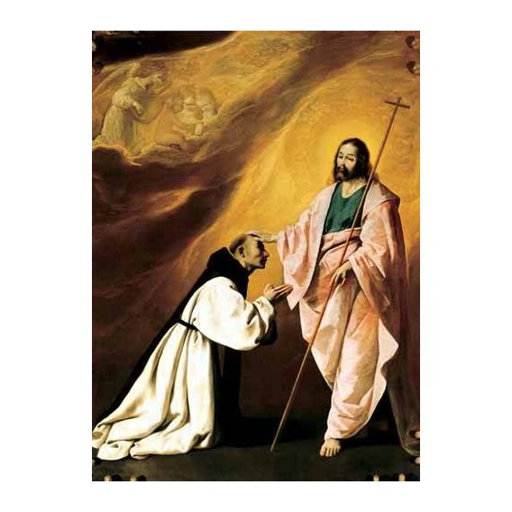 imagens religiosas - Quadro -Aparición de Cristo al Padre Salmerón-