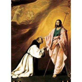 Tableaux religieuses - Tableau -Aparición de Cristo al Padre Salmerón- - Zurbaran, Francisco de