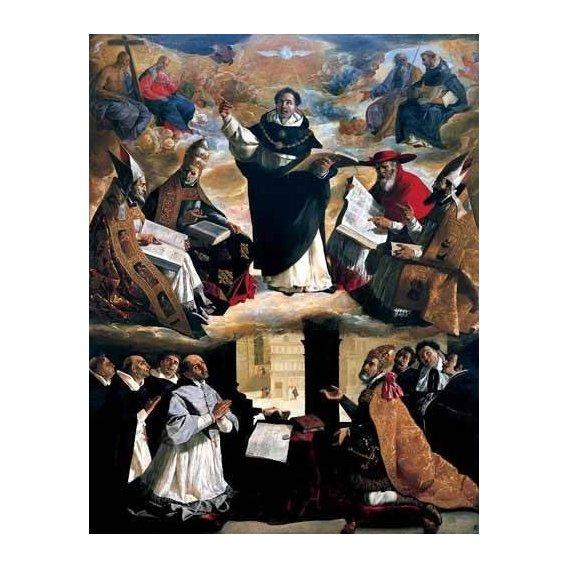 imagens religiosas - Quadro -Apoteosis de Santo Tomás de Aquino-
