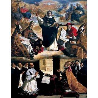 Tableaux religieuses - Tableau -Apoteosis de Santo Tomás de Aquino- - Zurbaran, Francisco de