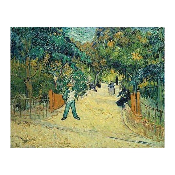 pinturas de paisagens - Quadro -Entrance to the Public Gardens in Arles, 1888-