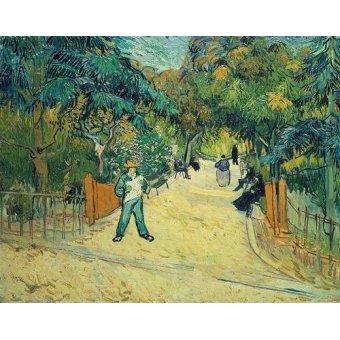 Tableau -Entrée du jardin public d'Arles-