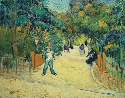 tableaux-de-paysages - Tableau -Entrée du jardin public d'Arles- - Van Gogh, Vincent