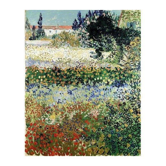 pinturas de paisagens - Quadro -Garden in Bloom, Arles, 1888-