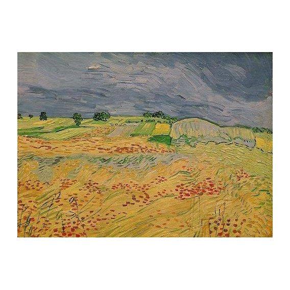 pinturas de paisagens - Quadro -Plain at Auvers, 1890-