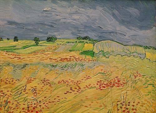 tableaux-de-paysages - Tableau -La plaine d' Auvers, 1890- - Van Gogh, Vincent
