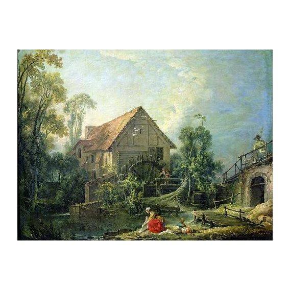 pinturas de paisagens - Quadro -The Mill, 1751 (oil on canvas)-