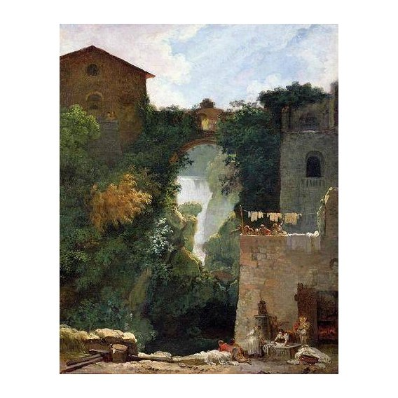 pinturas de paisagens - Quadro -The Falls of Tivoli (oil on canvas).-