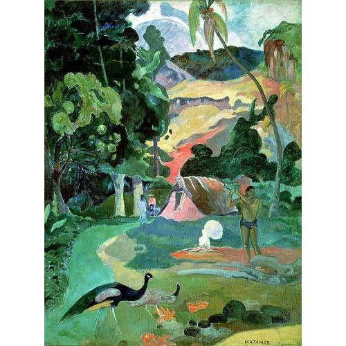 Tableau -Matamoe or, Landscape with Peacocks-