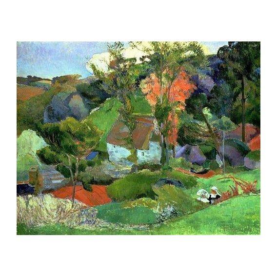 pinturas de paisagens - Quadro -Landscape at Pont Aven, 1888-