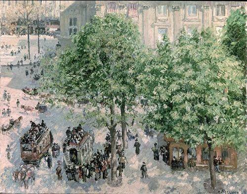tableaux-de-paysages - Tableau -Place du Théâtre-Francais, Spring, 1898- - Pissarro, Camille