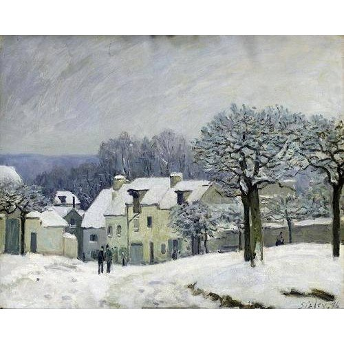Tableau -The Place du Chenil at Marly-le-Roi, Snow, 1876-