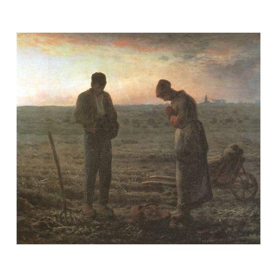 imagens religiosas - Quadro -El Angelus, 1857-1859-