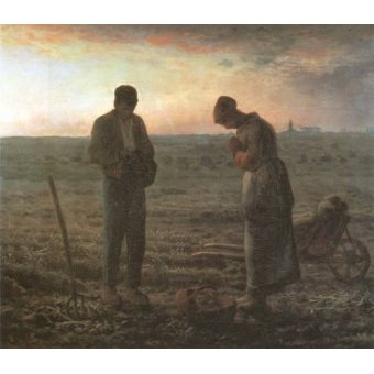 Tableaux religieuses - Tableau -El Angelus, 1857-1859- - Millet, Jean François
