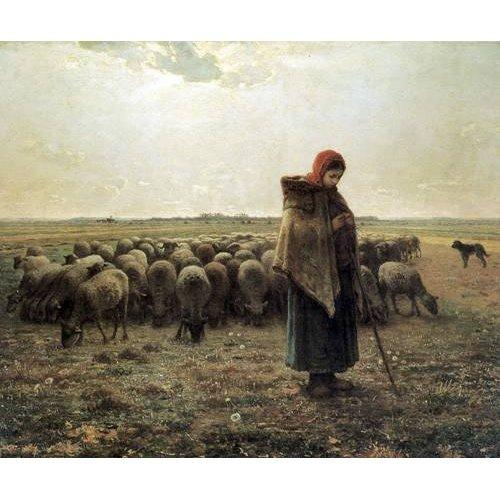 Tableau -Bergère avec son troupeau, 1862-1864-