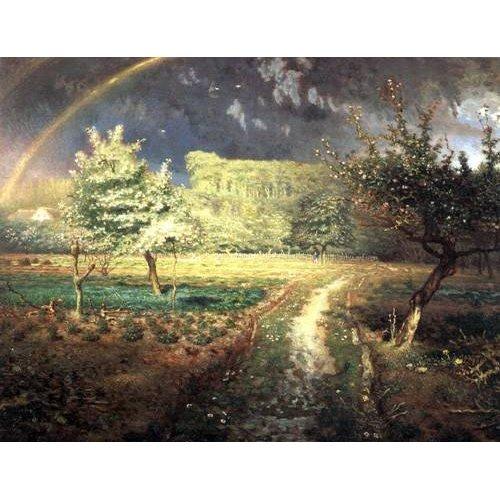 pinturas de paisagens - Quadro -Le Printemps, 1868-1873-