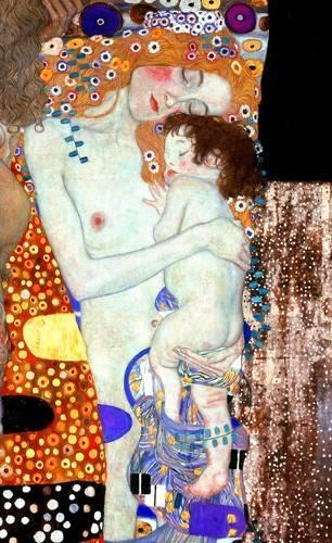 tableaux-de-personnages - Tableau -Les Trois Âges de la femme (Détail)- - Klimt, Gustav