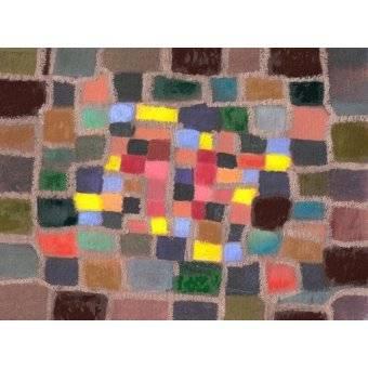 - Tableau -Abstrait _ Labyrinthe et écart (I)- - Molsan, E.