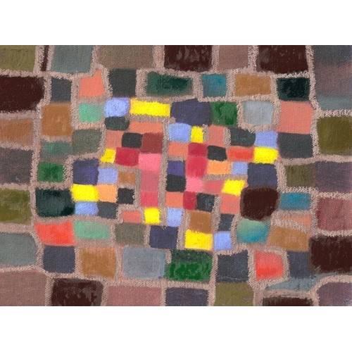 Tableau -Abstrait _ Labyrinthe et écart (I)-