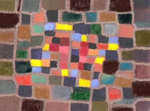 tableaux-abstraits - Tableau -Abstrait _ Labyrinthe et écart (I)- - Molsan, E.