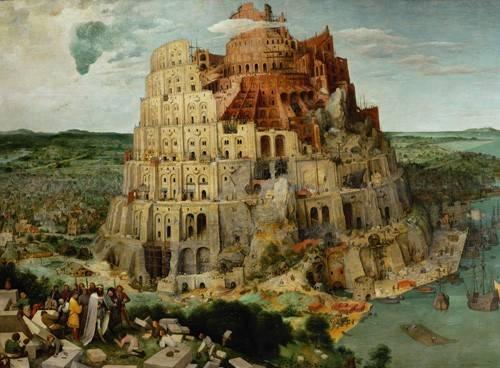 tableaux-religieuses - Tableau -La Tour de Babel- - Bruegel