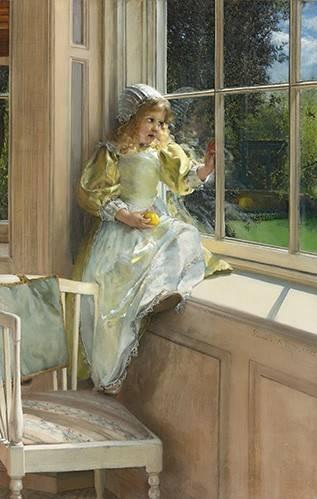 tableaux-de-personnages - Tableau -Sunshine- - Alma-Tadema, Lawrence