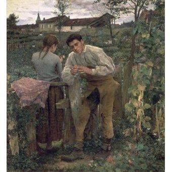 - Tableau -Rural Love, 1882 (oil on canvas).- - Bastien Lepage, Jules