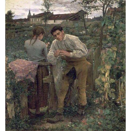 Tableau -Rural Love, 1882 (oil on canvas).-