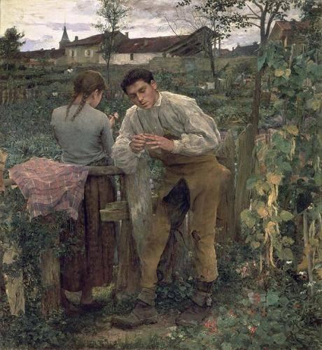 tableaux-de-personnages - Tableau -Rural Love, 1882 (oil on canvas).- - Bastien Lepage, Jules