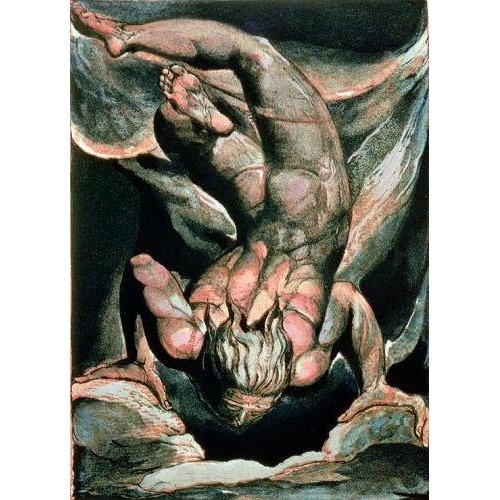 pinturas do retrato - Quadro -The First Book of Urizen, Man floating upside down-