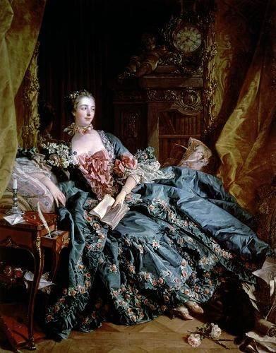 tableaux-de-personnages - Tableau -Madame de Pompadour- - Boucher, François
