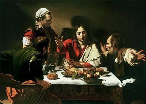 tableaux-religieuses - Tableau -Le Souper à Emmaüs- Caravage - Caravaggio, Michelangelo M.