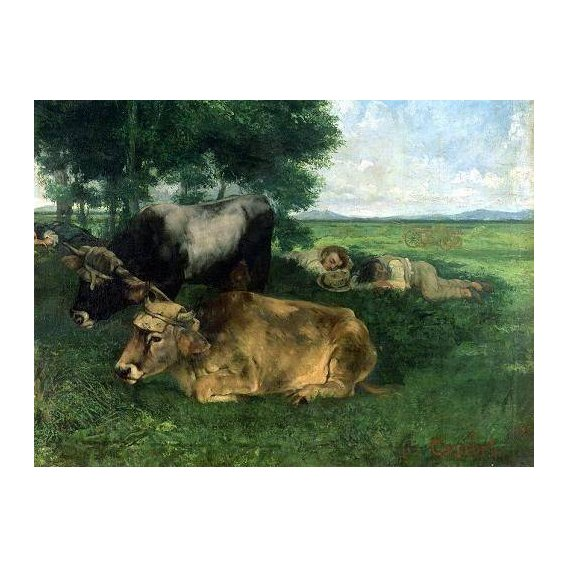 fotos de fauna - Quadro -La Siesta Pendant la saison des foins, 1867-