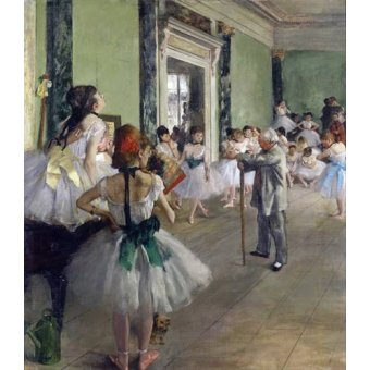 Tableau -La classe de danse, c.1873-76 (oil on canvas).-