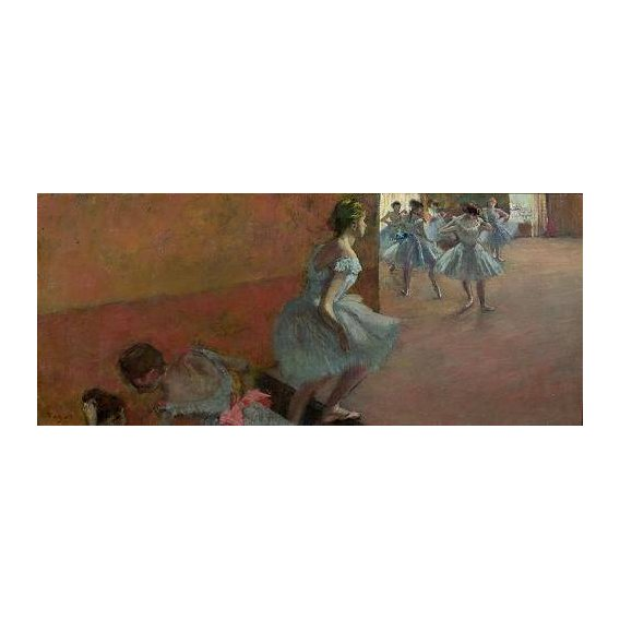 pinturas do retrato - Quadro -Dancers Ascending a Staircase, c.1886-88-