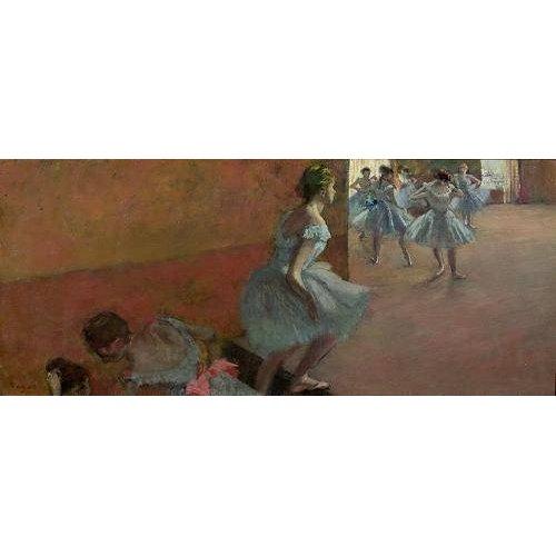Tableau -Danseurs montant un escalier, c.1886-88-